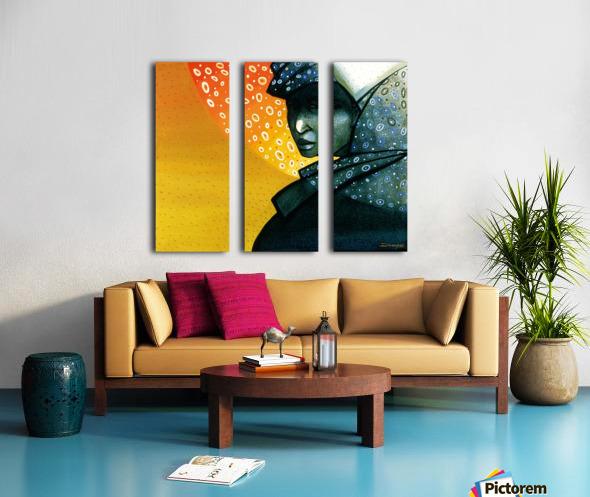 Femme soleil Split Canvas print