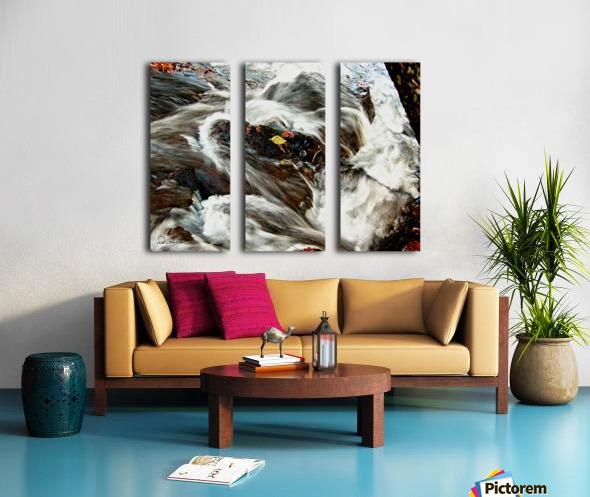 Rushing Stream Split Canvas print