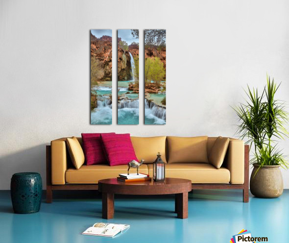 life is like a river Split Canvas print