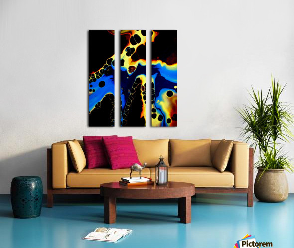 Moonshadow Split Canvas print