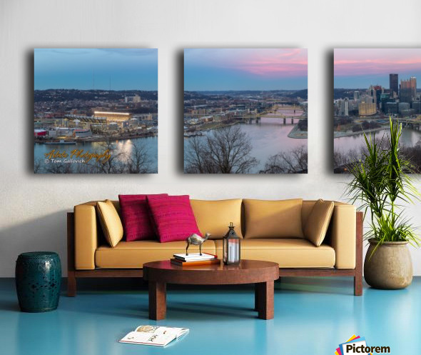 Pittsburgh Split Canvas print