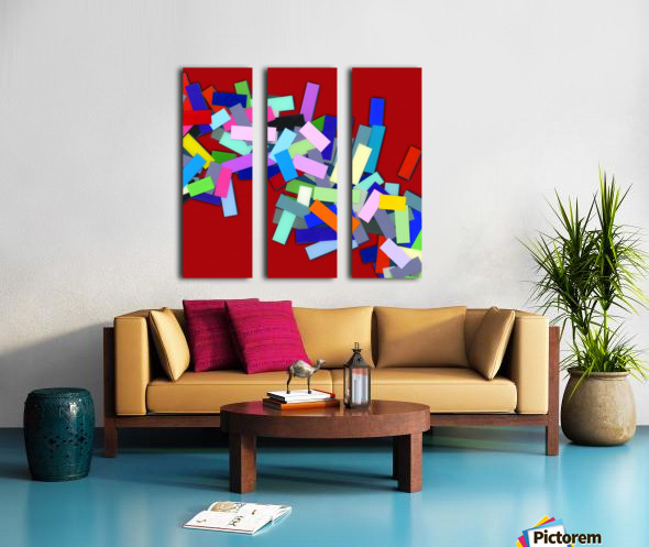 CHIC red 3  Split Canvas print