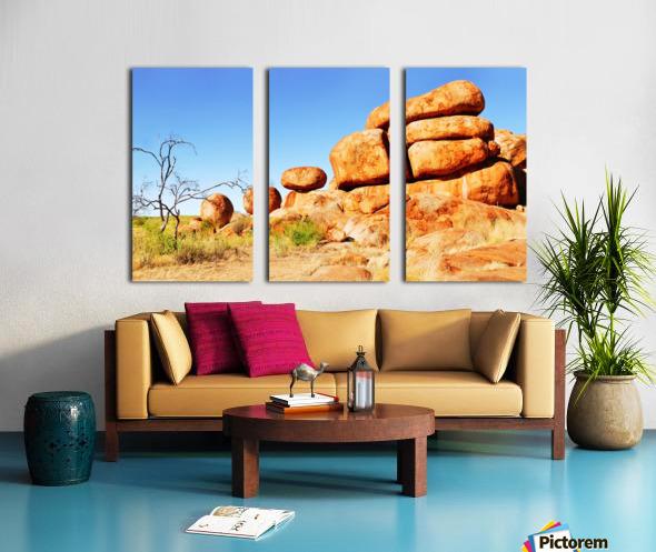 Landscape - Devils Marbles Split Canvas print