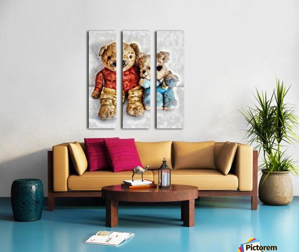Give Me A Bear Hug Split Canvas print
