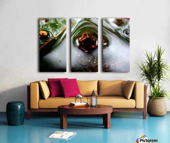 Macro Raindrop Photography Art 45 Split Canvas print