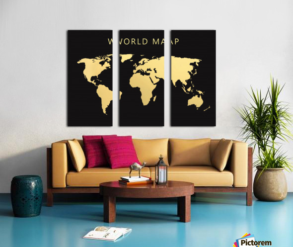 map world 2 Split Canvas print
