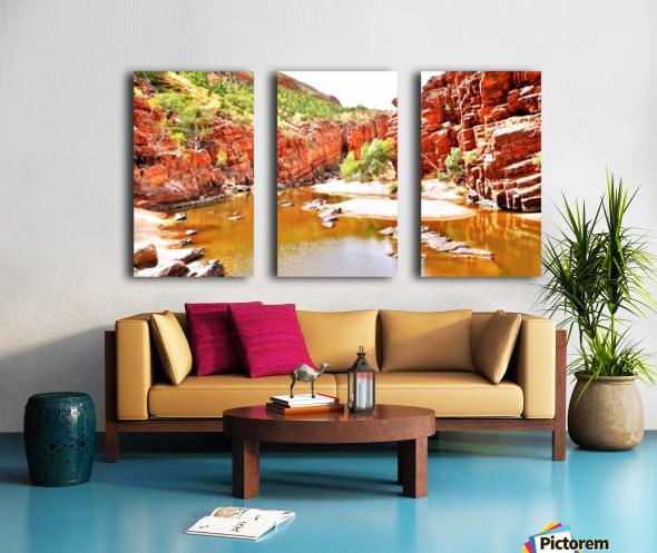 Waterhole - Ormiston Gorge Split Canvas print