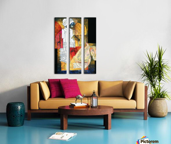 cavalier du sud Split Canvas print
