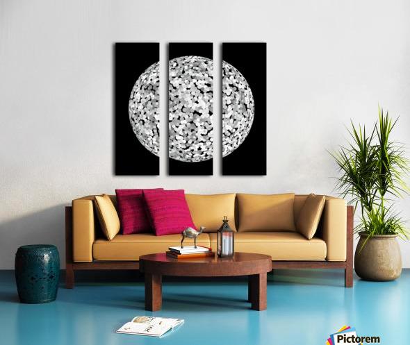 RONDO black & white Split Canvas print