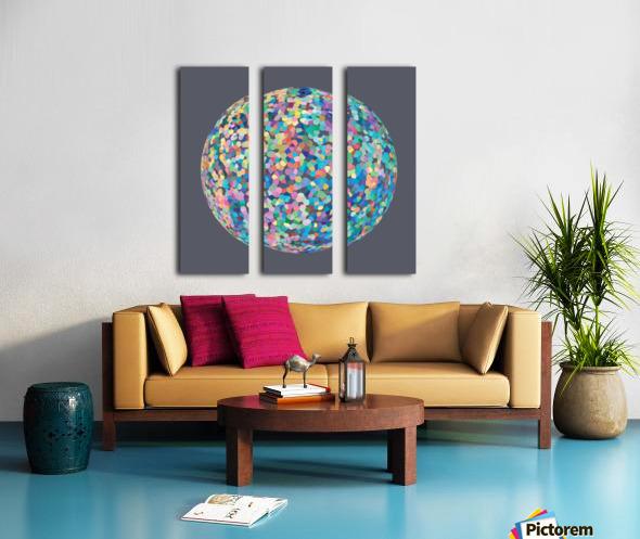 RONDI pastel medium grey Split Canvas print