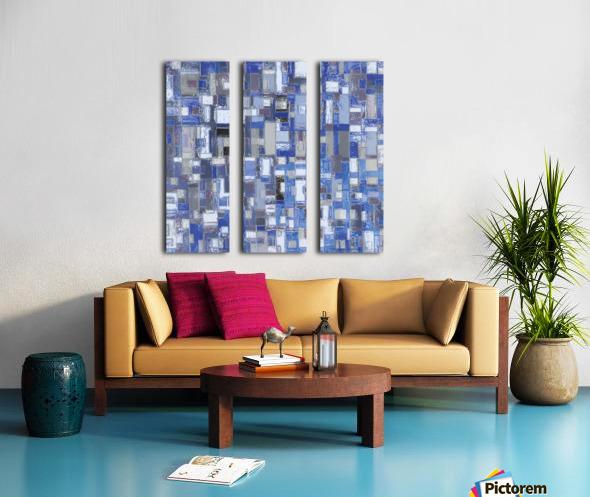 STAGE chrome blue Split Canvas print