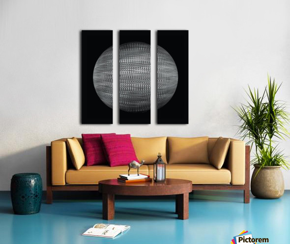 ORB Black and white Split Canvas print