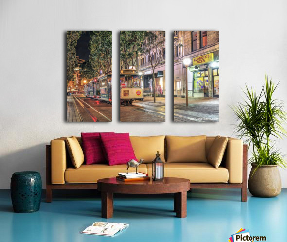 Out of service Split Canvas print