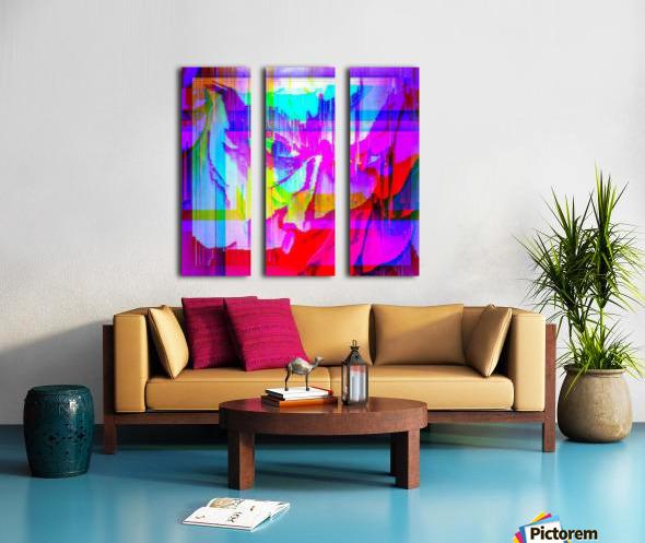 Modern Abstract Portrait  Split Canvas print