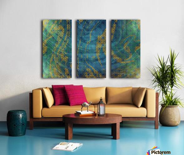 Geometric XXXXXIII Split Canvas print