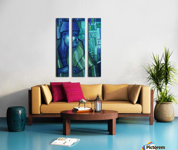 forgé de bleu Split Canvas print