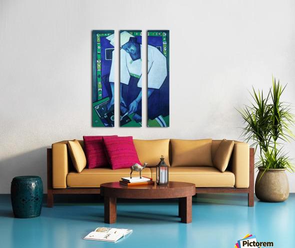 Mozaik bleu Split Canvas print