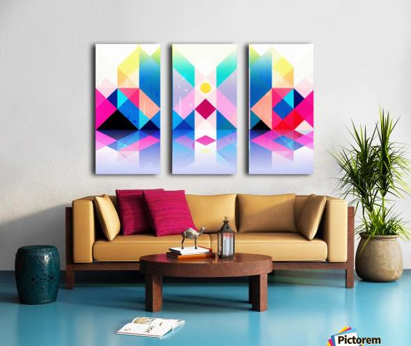 Geometric XXXXXV Split Canvas print