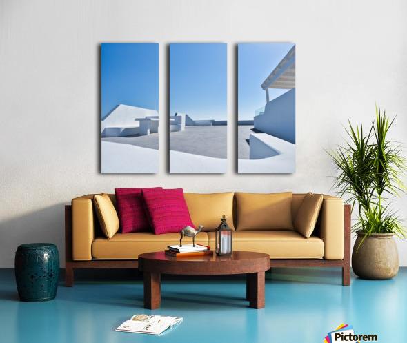 Cyclades White Architecture Design Split Canvas print