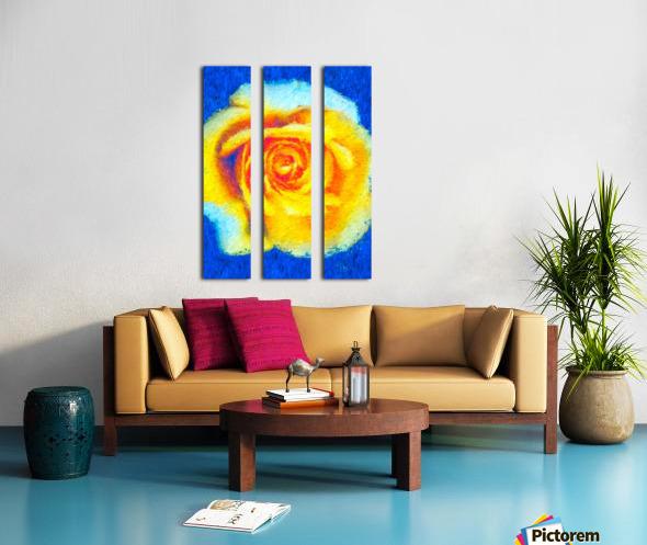Floating Rose Split Canvas print