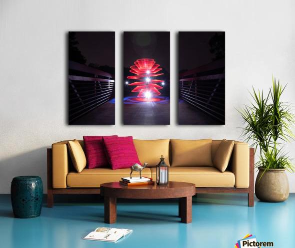 Rising Spiral Split Canvas print
