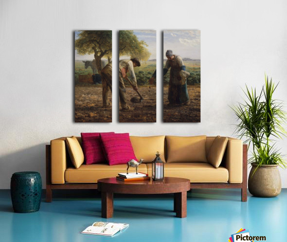 Potato Planters Split Canvas print