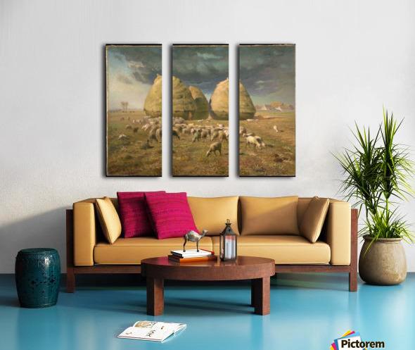 Haystacks - Autumn Split Canvas print