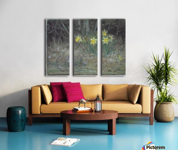 Narcissi and Violets Split Canvas print