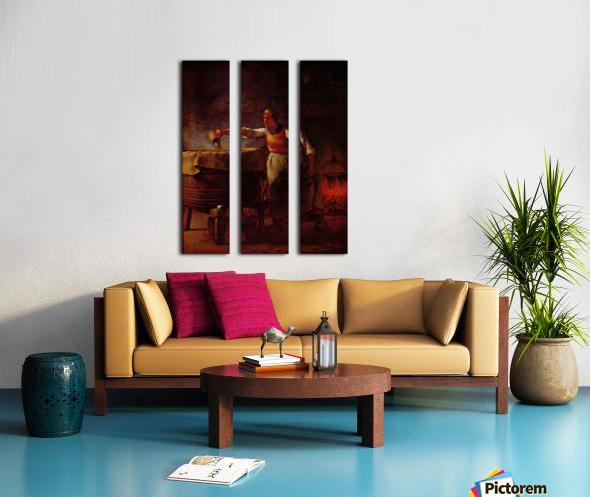 At home Split Canvas print