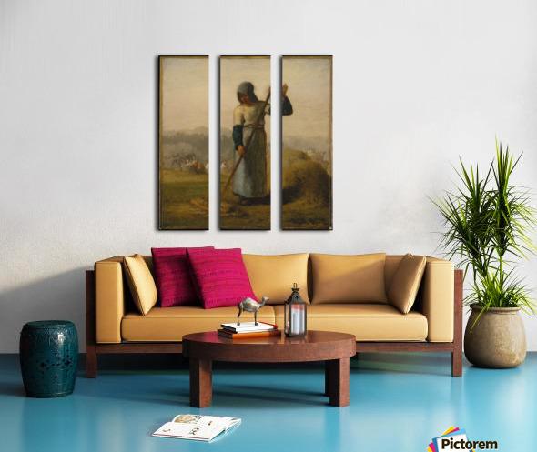 Woman with a Rake Split Canvas print