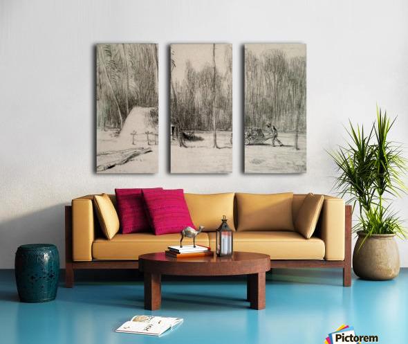 The Charcoal Burner's Hut Split Canvas print