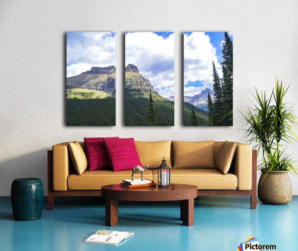 Going to the Sun Mountain Split Canvas print