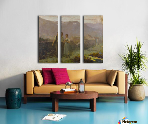 A courting couple Split Canvas print