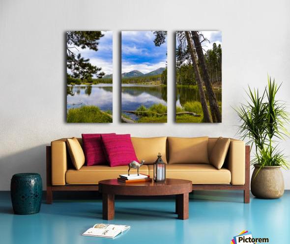 Sprague Lake Split Canvas print