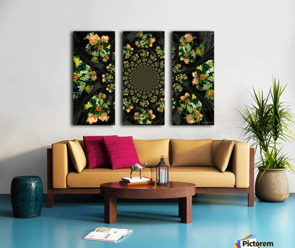 Floral Creation Split Canvas print