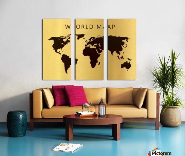 map world 4 Split Canvas print