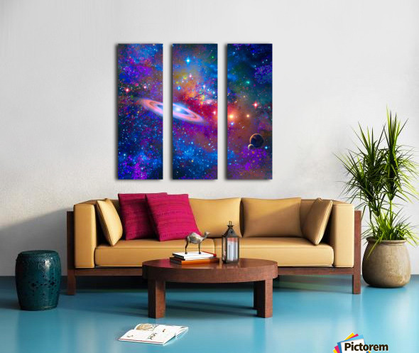DEEP SPACE DRIFTING Split Canvas print