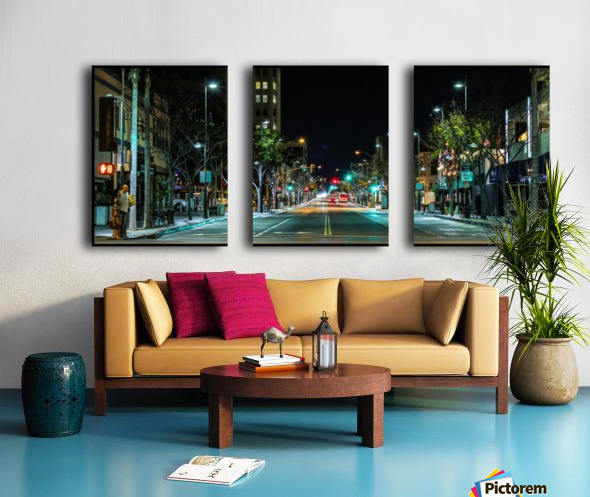 Santa Monica Split Canvas print