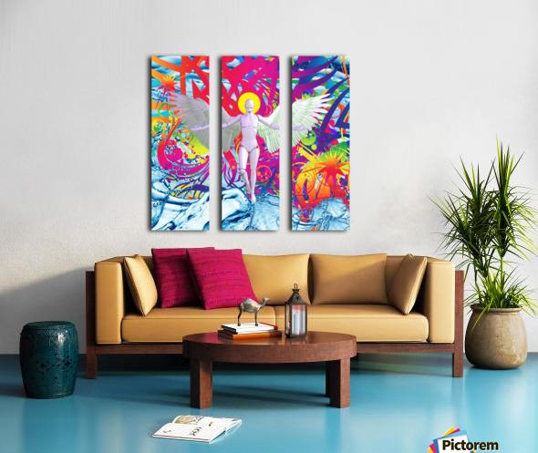 Angelic Robot Split Canvas print
