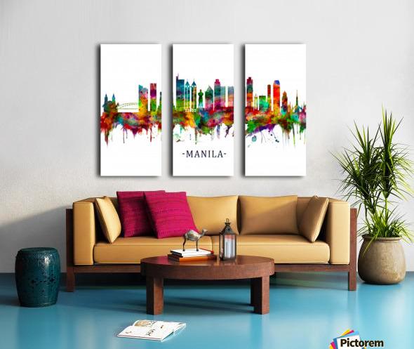 Manila Philippines Skyline Split Canvas print