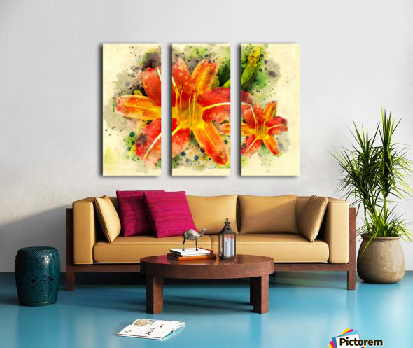 Spring Flower Split Canvas print