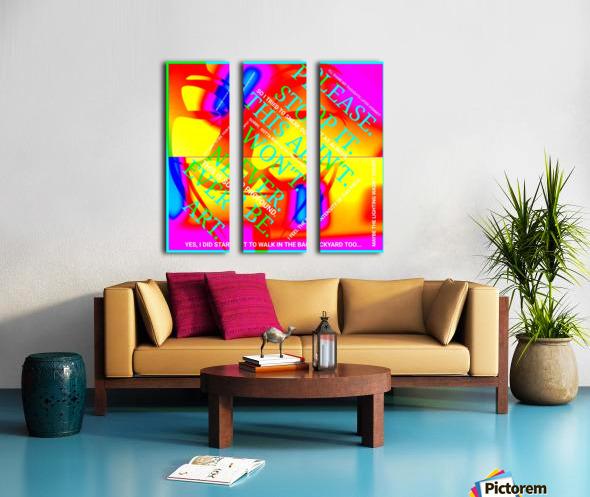 Collagène  Split Canvas print