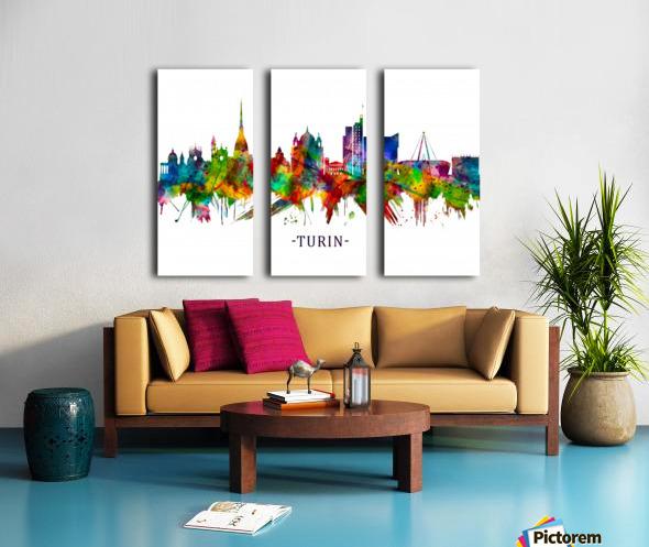 Turin Italy Skyline Split Canvas print