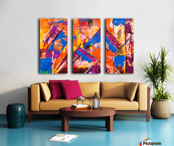 Modern art Split Canvas print