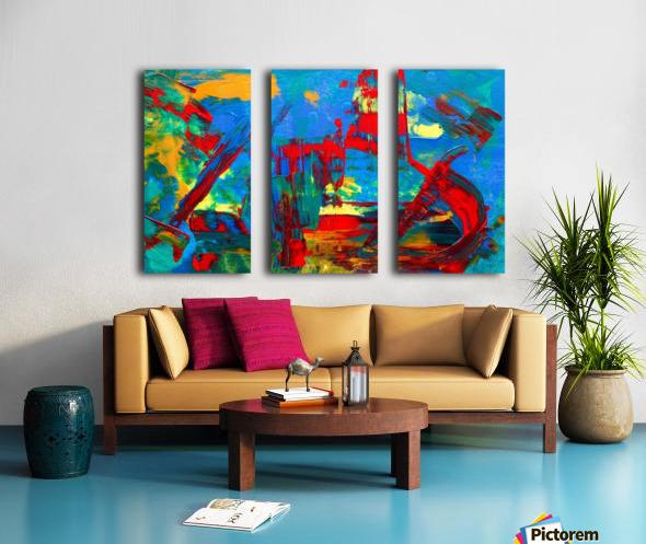 Expressionism Split Canvas print