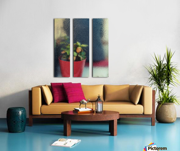 Flowers painting  Split Canvas print