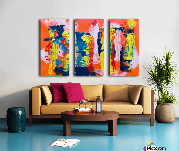Abstract painting Split Canvas print