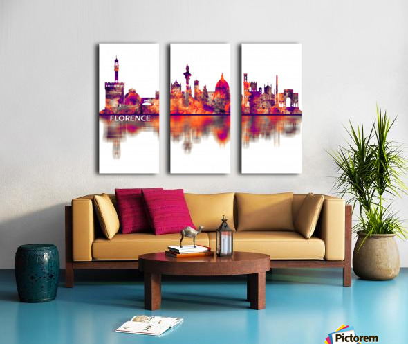 Florence Italy Skyline Split Canvas print