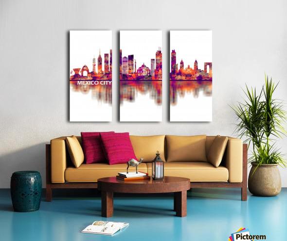 Mexico City Mexico Skyline Split Canvas print