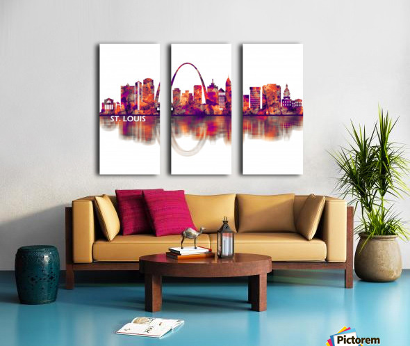 St. Louis Missouri Skyline Split Canvas print